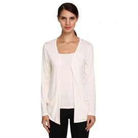76a607aee2 Knitwear Meaneor Women s Plus Size Long Sleeve Lace Back Soft Open Front Cardigan  Sweater