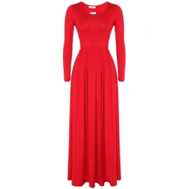 aa7fa9dd39e26 Meaneor Women Long and 3 4 Sleeve Solid Plus Size Maxi Long Evening Party  Dress (XXL