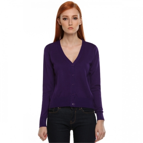 7c60dd931 Meaneor Women s Button Down V Neck Long Sleeve Basic Soft Knit ...