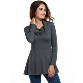 ecd16a613b4c Dresses Meaneor Women s Soft Cowl Neck Long Sleeve A-Line Causal Tunic Top