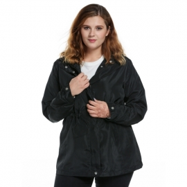 e9c5ffc42a1 plus size Meaneor Plus Series Women s Waterproof Windproof Hooded Outdoor  Causal Jacket
