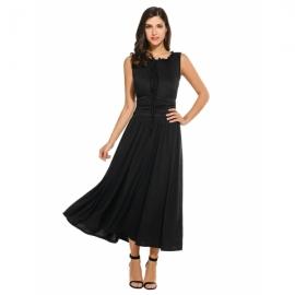 e30ccbc427 Meaneor Women s Empire Waist Maxi Dress Sleeveless Renaissance Party Long  Dress