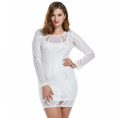Meaneor Womens See Through Long Sleeve Bodycon Sexy Party
