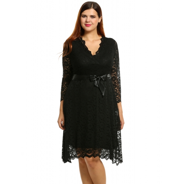 plus size formal dresses 3/4 sleeve